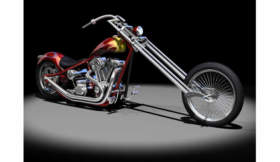 Acme 3d com 3d harley chopper beauty