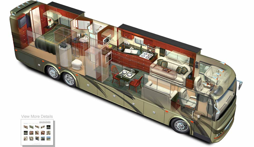 3d rv motorhome cutaway acme - Garage for rv model ...
