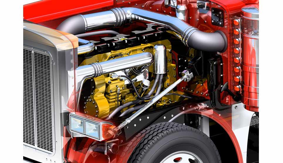 3d cutaway peterbilt 379 engine 169 acme 3d