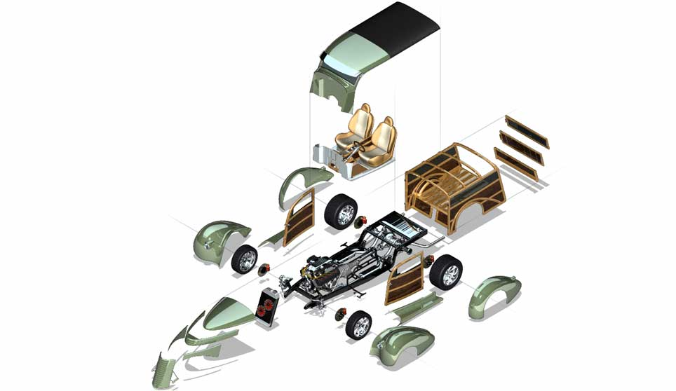 3d Custom Woody Exploded View Acme 3d